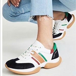 Tory Burch bubble stripe sneakers